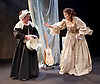 The Restoration of Nell Gwyn by Steve Trafford<br /> at Park Theatre, London, Great Britain <br /> 27th January 2016 <br /> <br /> Elizabeth Mansfield as Nell Gwyn <br /> <br /> Angela Curran as Margary (Maid)  <br /> <br /> Photograph by Elliott Franks <br /> Image licensed to Elliott Franks Photography Services
