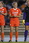 20 October 2013: Clemson's Gabby Byorth. The University of North Carolina Tar Heels hosted the University of Virginia Cavaliers at Fetzer Field in Chapel Hill, NC in a 2013 NCAA Division I Women's Soccer match. North Carolina won the game 2-0.