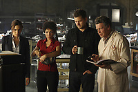 Fringe (2008-2013)<br /> (Season 2, Episode 1, &quot;A New Day in the Old Town&quot;)<br /> Joshua Jackson, John Noble, Jasika Nicole &amp; Meghan Markle<br /> *Filmstill - Editorial Use Only*<br /> CAP/KFS<br /> Image supplied by Capital Pictures