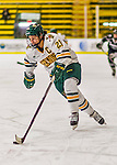 1 February 2015: University of Vermont Catamount Forward Amanda Pelkey, a Senior from Montpelier, VT, in second period action against the visiting Providence College Friars at Gutterson Fieldhouse in Burlington, Vermont. The Lady Cats defeated the Friars 7-3 in Hockey East play. Mandatory Credit: Ed Wolfstein Photo *** RAW (NEF) Image File Available ***