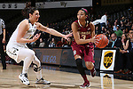 28 January 2016: Florida State's Emiah Bingley (3) and Wake Forest's Jill Brunori (11). The Wake Forest University Demon Deacons hosted the Florida State University Seminoles at Lawrence Joel Veterans Memorial Coliseum in Winston-Salem, North Carolina in a 2015-16 NCAA Division I Women's Basketball game. Florida State won the game 96-55.