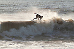 Surfing Waves at Folly Beach South Carolina Washout