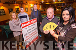Launching the Benefit Night for the Family of the Late Trish Flavin Nee Guerin at the Whitesands Hotel Ballyheigue on Friday 3rd March were Brendan Guerin, Sandra Breen, Marie Guerin, Niall Guerin and JJ Guerin