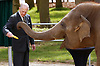 11.04.2017; Whipsnade Zoo, England: QUEEN ELIZABETH<br />accompanied by HRH The Duke of Edinburgh, officially unveiled the Centre for Elephant Care at Whipsnade Zoo.<br />During the visit the Queen and Duke fed a banana each to Donna the elephant.<br />The &pound;2 million custom-designed Centre for Elephant Care is the new home for the Zoo&rsquo;s herd of nine Asian elephants.<br />Mandatory Credit Photo: NEWSPIX INTERNATIONAL<br /><br />IMMEDIATE CONFIRMATION OF USAGE REQUIRED:<br />Newspix International, 31 Chinnery Hill, Bishop's Stortford, ENGLAND CM23 3PS<br />Tel:+441279 324672  ; Fax: +441279656877<br />Mobile:  07775681153<br />e-mail: info@newspixinternational.co.uk<br />*All fees payable to Newspix International*
