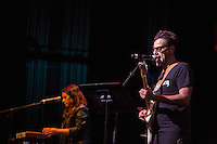 Chetes of the Mexican supergroup, Mexrrissey, sings Girlfriend in a Coma at the Perelman Theater in Philadelphia on October 30, 2016.