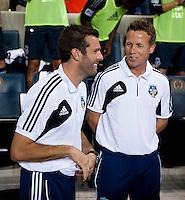 Ben Olsen, John Hackworth.  The MLS All-Stars defeated Chelsea, 3-2.