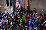 The start of Stage 4 of the 2017 Tirreno Adriatico running 187km from Montalto di Castro to Terminillo, Italy. 11th March 2017.<br /> Picture: La Presse/Gian Mattia D'Alberto | Cyclefile<br /> <br /> <br /> All photos usage must carry mandatory copyright credit (&copy; Cyclefile | La Presse)