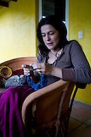 Annuska at SJLL. Building the Wiseman house, San Jose los Laureles, Mexico