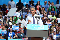 PHILADELPHIA, PA - SEPTEMBER 13: U S President Barack Obama pictured campaigning for Democratic nominee Hillary Clinton in front of the Philadelphia Art Museum in Philadelphia, Pennsylvania on September 13, 2016  photo credit  Star Shooter/MediaPunch