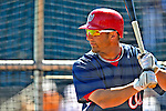5 March 2009: Washington Nationals' infielder Kory Casto takes batting practice prior to a Spring Training game against the Detroit Tigers at Joker Marchant Stadium in Lakeland, Florida. The Tigers defeated the visiting Nationals 10-2 in the Grapefruit League matchup. Mandatory Photo Credit: Ed Wolfstein Photo