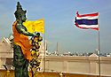 TH00404-00...THAILAND - Images on top of the Golden Mount located in the Banglamphu District of Bangkok.
