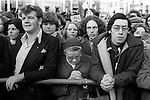 Peace Movement. Peace People. Peace March. Crowds support the Peace Movement Trafalgar Square rally. 1976