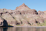Sea of Cortez, Baja California, Mexico; the rocky hillside of Angel Island in Lolo's Cove