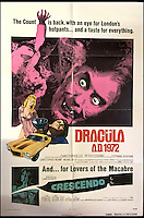 BNPS.co.uk (01202 558833)<br /> Pic: Cottees/BNPS<br /> <br /> Dracula AD 1972 / Crescendo 1972 double-bill film poster, starring Christopher Lee, Peter Cushing.<br /> <br /> A horror fan has sold his chilling collection of cult movie posters - for a shocking &pound;25,000.<br /> <br /> The unnamed film buff collected over 100 posters that advertised scary movies like Dracula, Frankenstein, The Wicker Man and the Hammer Horror franchise.<br /> <br /> He has now sold them at Cottees Auctions of Wareham, Dorset, with one rare Dracula poster fetching over &pound;5,000 alone.