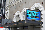 'Significant Other' - Theatre Marquee