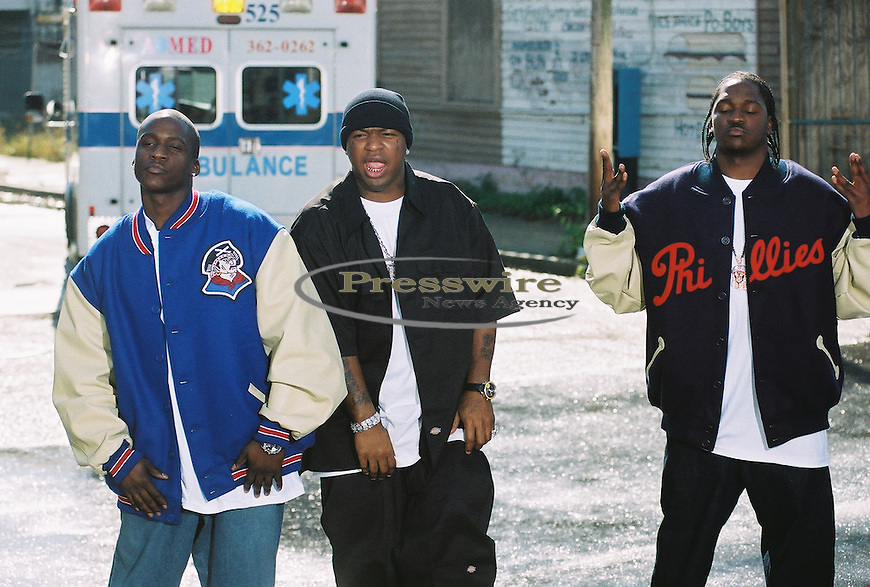 """No Malice, Birdman & Pusha T on the """"What Happen to That Boy"""" Cash Money Records video shoot in New Orleans, LA."""
