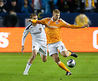 CARSON, CA - November 20, 2011: Houston Dynamo defender Andre Hainault (31) during the MLS Cup match between LA Galaxy and Houston Dynamo at the Home Depot Center in Carson, California. Final score LA Galaxy 1, Houston Dynamo 0.