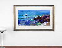 "Burtt: Afternoon, Moss Cove, Digital Print, , Framed Dims. 27"" x 43.5"" x 1"""