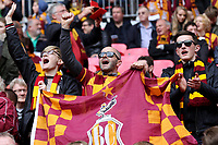 Bradford City fans pre-match during Bradford City vs Millwall, Sky Bet EFL League 1 Play-Off Final at Wembley Stadium on 20th May 2017
