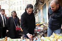 Benoit Hamon en dÈplacement ‡ Marseille, le 07/03/2017.