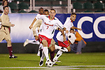 14 November 2008: Maryland's Casey Townsend (7). The University of Maryland defeated Boston College 1-0 at WakeMed Stadium at WakeMed Soccer Park in Cary, NC in a men's ACC tournament semifinal game.