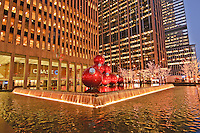 New York, New York , Christmas Balls, New Rockefeller Center, Sixth Avenue, International Style