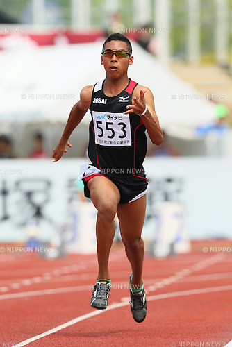 Abdul Hakim Sani Brown (), <br /> JULY 30, 2015 - Athletics : <br /> 2015 All-Japan Inter High School Championships, <br /> Men's 100m <br /> at Kimiidera Athletic Stadium, Wakayama, Japan. <br /> (Photo by YUTAKA/AFLO SPORT)