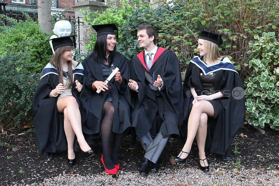 NO REPRO FEE. 25/11/2011. Independent College Dublin graduations. Pictured after graduating from Independent College Dublin are L-R Kerri Ann Warren from Malahide MA Dispute resolution, Sarah Murphy from Laois, H.Dip Psychotherapy, Peter Kasko from Dublin- LLB and Aisling Hearns from Wicklow MA Psychotherapy. For more info please contact Annie Leger annie.leger@independentcolleges.ie.T: +353 1 635 5811.Picture James Horan/Collins
