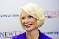 Callista Gingrich, wife of Republican presidential candidate Newt Gingrich, at the opening of a new campaign office on Saturday, December 10, 2011 in Urbandale, IA.