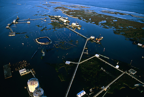 Oil exploration completely destroys a fragile island off the coast of Louisiana