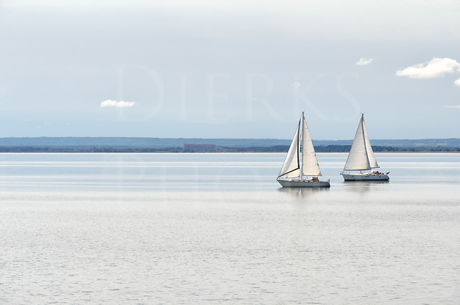 Two sailboats gliding along on Lake Superior near the Duluth city limits, a great way to spend a summer afternoon!