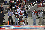Louisiana-Lafayette's Orkeys Auriene (2) knocks down a pass intended for Ole Miss wide receiver Markeith Summers (16) in Oxford, Miss. on Saturday, November 6, 2010. Ole Miss won 43-21.