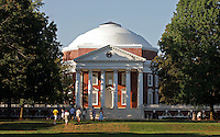 UVa, lawn area, rotunda, columns, architecture in Charlottesville, Va. photo/Andrew Shurtleff