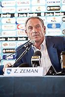 PESCARA (PE): Presentazione alla stampa del nuovo allenatore del Pescara Calcio Zdnek Zeman. The presentation to the press the new coach of Pescara soccer Zdenek Zeman. Foto © DiLoreto