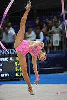 September 10, 2009; Mie, Japan;  Silviya Miteva of Bulgaria performs  balance with ribbon to win bronze in the Event Final on this day at 2009 World Championships Mie. Next day Silviya placed 5th in the individual All Around. Photo by Tom Theobald.