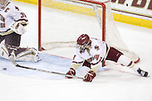 Molly Schaus (BC - 30), Katelyn Kurth (BC - 14) - The Boston College Eagles defeated the Boston University Terriers 2-1 in the opening round of the Beanpot on Tuesday, February 8, 2011, at Conte Forum in Chestnut Hill, Massachusetts.