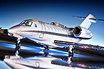 A Cessna Citation X, one of the fastest corporate aircraft ever made, sits on the ramp at the Salinas Municipal Airport.