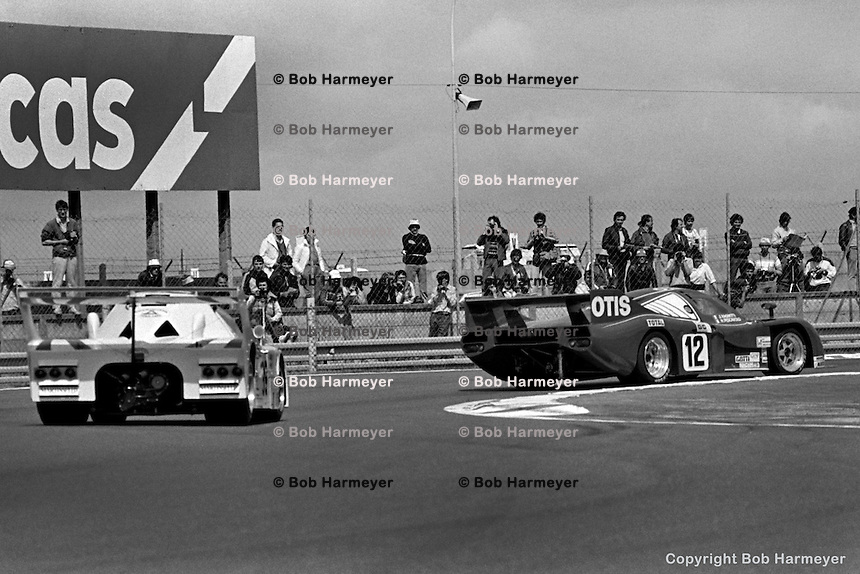 LE MANS, FRANCE: The Rondeau M382 006/Ford Cosworth driven by Jean Rondeau, Jean Ragnotti and Henri Pescarolo turned the fastest lap of the race before retiring on lap 146 during the 24 Hours of Le Mans on June 20, 1982, at Circuit de la Sarthe in Le Mans, France.
