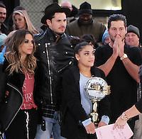 NEW YORK, NY November 23: Valentin Chmerkovskiy, Laurie Hernandez winner of Dancing with Stars 2016 at Good Morning America in New York City.November 23, 2016. Credit:RW/MediaPunch