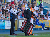 Ian Holloway, Manager, Blackpool FC applauds his team - Millwall vs Blackpool - NPower Championship Football at the New Den, London - 18/08/12 - MANDATORY CREDIT: Ray Lawrence/TGSPHOTO - Self billing applies where appropriate - 0845 094 6026 - contact@tgsphoto.co.uk - NO UNPAID USE.