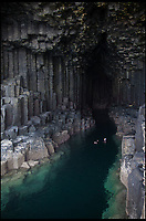 BNPS.co.uk (01202 558833)<br /> Pic: WildGuideScotland/BNPS<br /> <br /> Swimming amongst the basalt column of Staffa.<br /> <br /> Scotland's stunning unspoiled scenery is being shown in a whole new light in a book that reveals the hidden gems off the beaten track north of the border.<br /> <br /> Three young photographers travelled the width and breadth of Scotland and snapped 750 picturesque places which include shimmering lochs, ancient forests, lost ruins, hidden beaches, secret islands, dramatic cliffs, tiny glens and mysterious grottoes. <br /> <br /> Friends Kimberley Grant, David Cooper and Richard Gaston, all in their late 20s, have spent the past two years exploring lesser known idyllic spots which they are keen to bring to a wider audience.