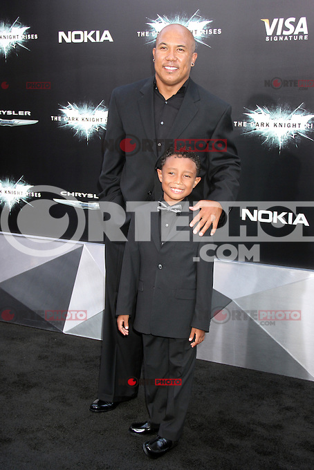 NEW YORK, NY - JULY 16:  Hines Ward and Jaden Ward at 'The Dark Knight Rises' premiere at AMC Lincoln Square Theater on July 16, 2012 in New York City.  ©RW/MediaPunch Inc.