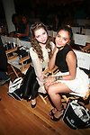 Sammi Hanratty and Stella Hudgens-Front Row-Boy Meets Girl Forever Young Fashion Show Held at Style 360, NY  9/12/12