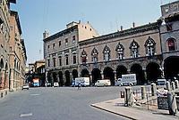 Italy: Bologna--Palaces, Arcades on Piazza Santo Stefano. Photo '83.