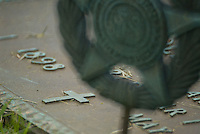 A World War I veteran's grave marker in an Ohio cemetery.<br />