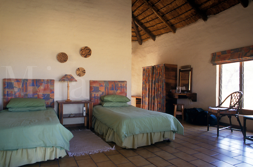 The TSARO LODGE is a comfortable place to stay after a day in the bush - MOREMI GAME RESERVE, OKAVANGO DELTA