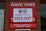 Walsall 1 Chelsea 4, 23/09/2015. Bescot Stadium, Capital One Cup Third Round. League One Walsall host struggling Premier League Chelsea. After drawing the Londoners, Saddlers supporters sold out the Bescot Stadium hoping for an upset. The match was sold out and watched by watched by 10,525. Photos by Simon Gill.
