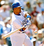 13 March 2007: Los Angeles Dodgers shortstop Rafael Furcal in action against the Detroit Tigers during a spring training game at Holman Stadium in Vero Beach, Florida.<br /> <br /> Mandatory Photo Credit: Ed Wolfstein Photo