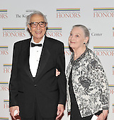 Washington, DC - December 5, 2009 -- Dave Brubeck, one of the 2009 Kennedy Center honorees, and his wife, Lola, arrive for the formal Artist's Dinner at the United States Department of State in Washington, D.C. on Saturday, December 5, 2009..Credit: Ron Sachs / CNP.(RESTRICTION: NO New York or New Jersey Newspapers or newspapers within a 75 mile radius of New York City)