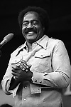 """Jimmy Witherspoon, Sept 1974. American blues singer/shouter who spanned the worlds of blues, R&B and jazz with his deep baritone and unique style anchored in the big band blues traditions. His 1949 hit """"Ain't Nobody's Business"""" was one of the biggest records of the era, a #1 R&B hit that stayed on the Billboard charts 34 weeks that year"""